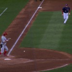 Zim charges Joe Blanton bunt
